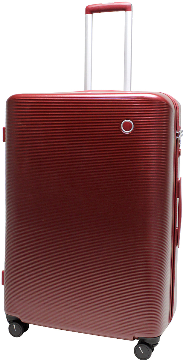 Чемодан-тележка Echolac 108, на колесах, цвет: бордо, 90 л. 108-28PC