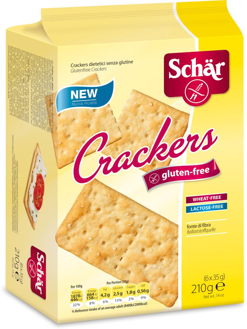 Dr. Schar Cracker Крекеры, 210 г delser крекеры с розмарином и оливковым маслом
