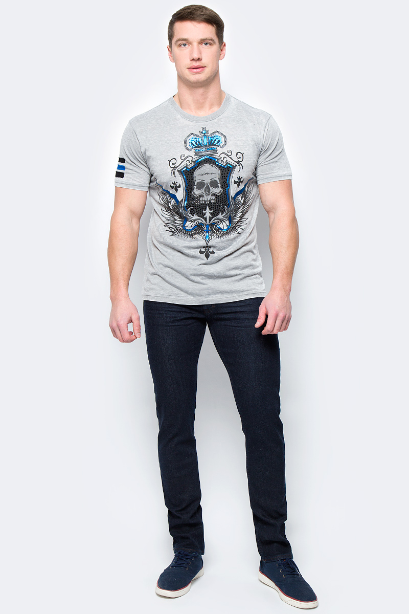 Футболка мужская Rebel Spirit, цвет: серый. SSK131609. Размер XXXL (56) футболка мужская rebel spirit цвет черный ssk141683 размер xxxl 56