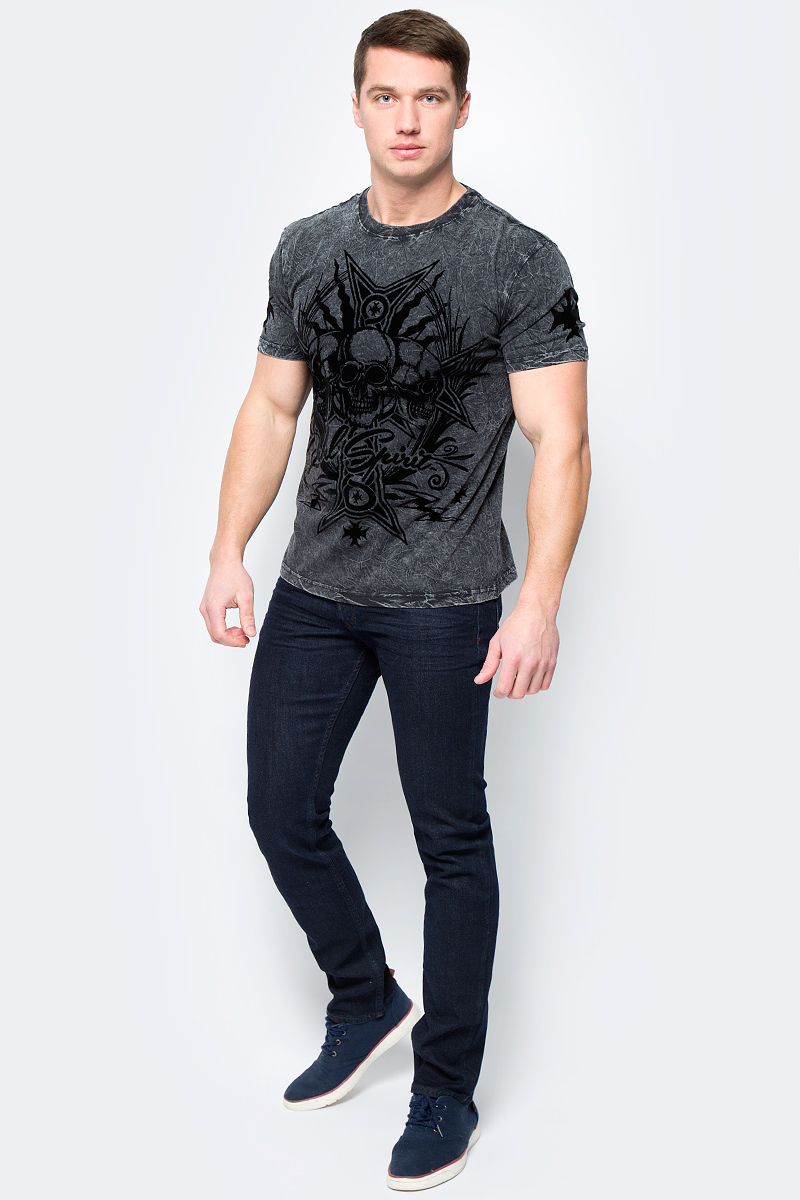 Футболка мужская Rebel Spirit, цвет: черный. SSK141701. Размер XXXL (56) футболка мужская rebel spirit цвет черный ssk151763 размер xl 52