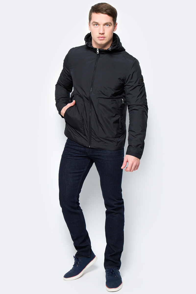 Куртка мужская Calvin Klein Jeans, цвет: черный. J30J306368_0990. Размер XL (50/52) куртка мужская calvin klein jeans цвет синий j30j306966 4020 размер xl 50 52