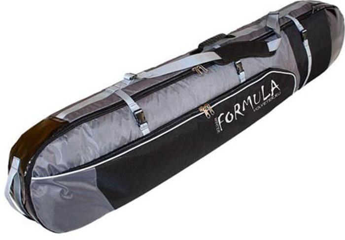 Чехол для сноуборда и лыж Formula Board, цвет: черный, серый, 170 см52002Чехол для двух сноубордов — это универсальная вещь, которая облегчит поездку на автомобиле, самолете или другом транспорте. Подойдет как чехол для сноуборда и лыж. Идеален для путешествий вдвоем и неважно кто из вас на чем катается. Кто-то любит лыжи, а кто-то сноуборд или, может, вы любите кататься на том и другом или берете сразу два разных сноуборда. В такой чехол для двух сноубордов можно упаковать два сноуборда или две пары лыж, с сопутствующими вещами.