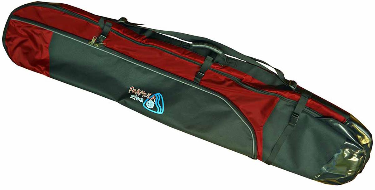 Чехол для сноуборда и лыж Formula Board, цвет: черный, красный, 170 см52002Чехол для двух сноубордов — это универсальная вещь, которая облегчит поездку на автомобиле, самолете или другом транспорте. Подойдет как чехол для сноуборда так и для лыж. Идеален для путешествий вдвоем и неважно кто из вас на чем катается. Чехол изготовлен из современных, прочных синтетических материалов, не боящихся влаги, а специальная конструкция модели убережет содержимое от механических повреждений. Что взять с собой на горнолыжную прогулку: рассказывают эксперты. Статья OZON Гид