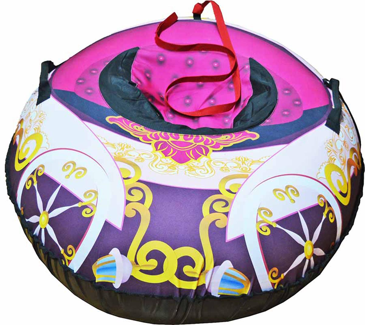 Санки-ватрушка FormulaZima Карета, 110 х 80 см55025Надувные санки — тюбинг в виде кареты. Санки овальной формы, с ярким рисунком в виде кареты на верхней части.