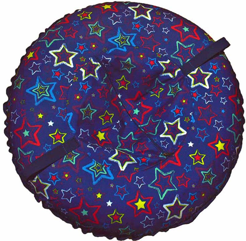 Санки-ватрушка FormulaZima Эффект. Звезды, диаметр 100 см55021-2Ватрушка для катания по снегу «Эффект 100» — отличный вариант ярких, крепких санок для зимних забав.