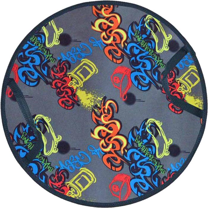 Ледянка FormulaZima Снежинка детская. Граффити, диаметр 35 см55008-2Детская ледянка выполнена из прочных современных материалов. Верх - Оксфорд с ярким рисунком, низ - прочный и хорошо скользящий ПВХ. Внутри ледянки - мягкий теплоизолирующий материал, который одновременно и защищает от холода, и амортизирует, сглаживает ухабы на склоне.Зимние игры на свежем воздухе. Статья OZON Гид