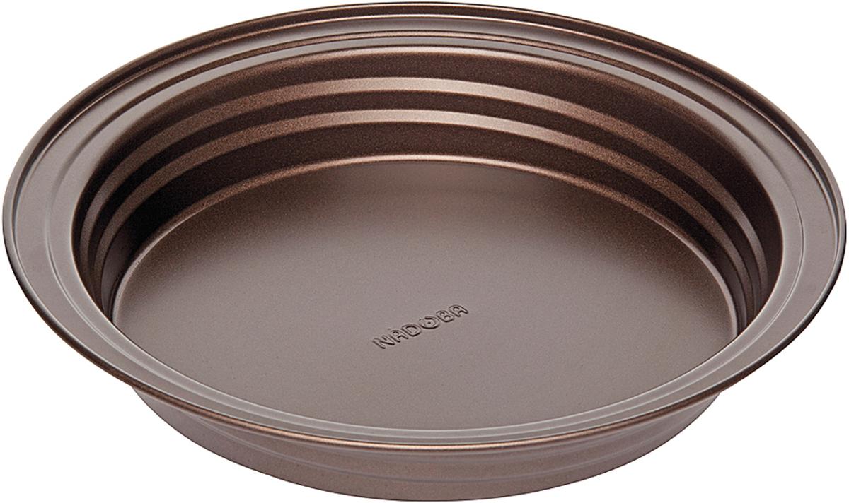 Форма для выпечки Nadoba Liba, разъемная, с антипригарным покрытием, цвет: шоколадный, диаметр 26,5 см761111Форма для выпечки Nadoba Liba круглая, стальная, антипригарная, 26,5 х 4,3 см.
