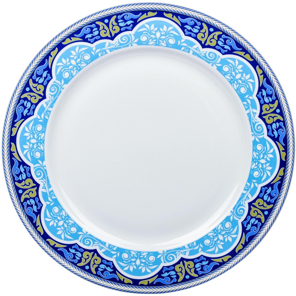 Тарелка обеденная Dasen Лазурный орнамент, диаметр 23 смDNNB0002-2Тарелка Dasen Лазурный орнамент изготовлена из высококачественного фаянса. Предназначена для красивой подачи различных блюд. Изделие декорировано изящным рисунком. Такая тарелка украсит сервировку стола и подчеркнет прекрасный вкус хозяйки. Она дополнит коллекцию вашей кухонной посуды и будет служить долгие годы.Можно мыть в посудомоечной машине и использовать в СВЧ.