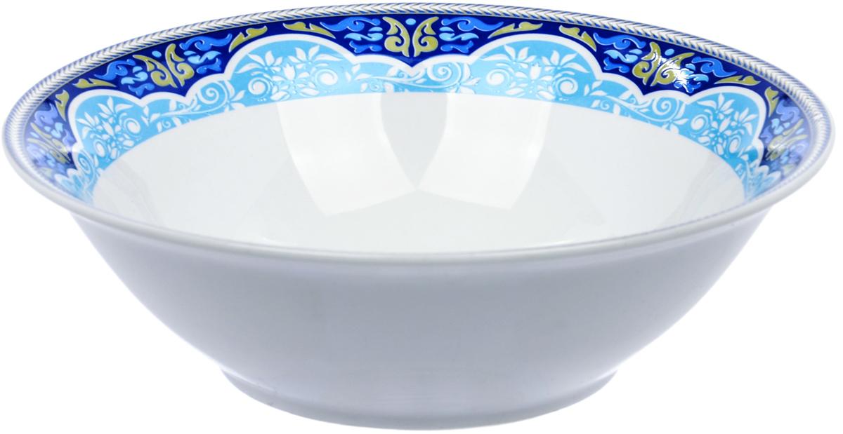 Салатница Dasen Лазурный орнамент, диаметр 14 смDNNB0002-5Салатница Dasen Лазурный орнамент, изготовленная из высококачественногофаянса, предназначена для красивой подачи различных блюд. Изделие оформлено орнаментом.Такая салатница украсит сервировку стола и подчеркнет прекрасный вкус хозяйки. Можно мыть в посудомоечной машине и использовать в микроволновой печи.