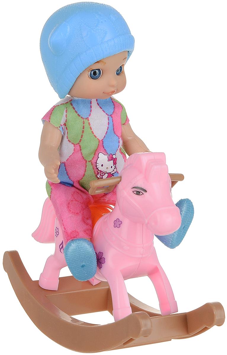 Карапуз Игровой набор с куклой Машенька в комбенизоне на лошадке-качалке стеллаж угловой машенька
