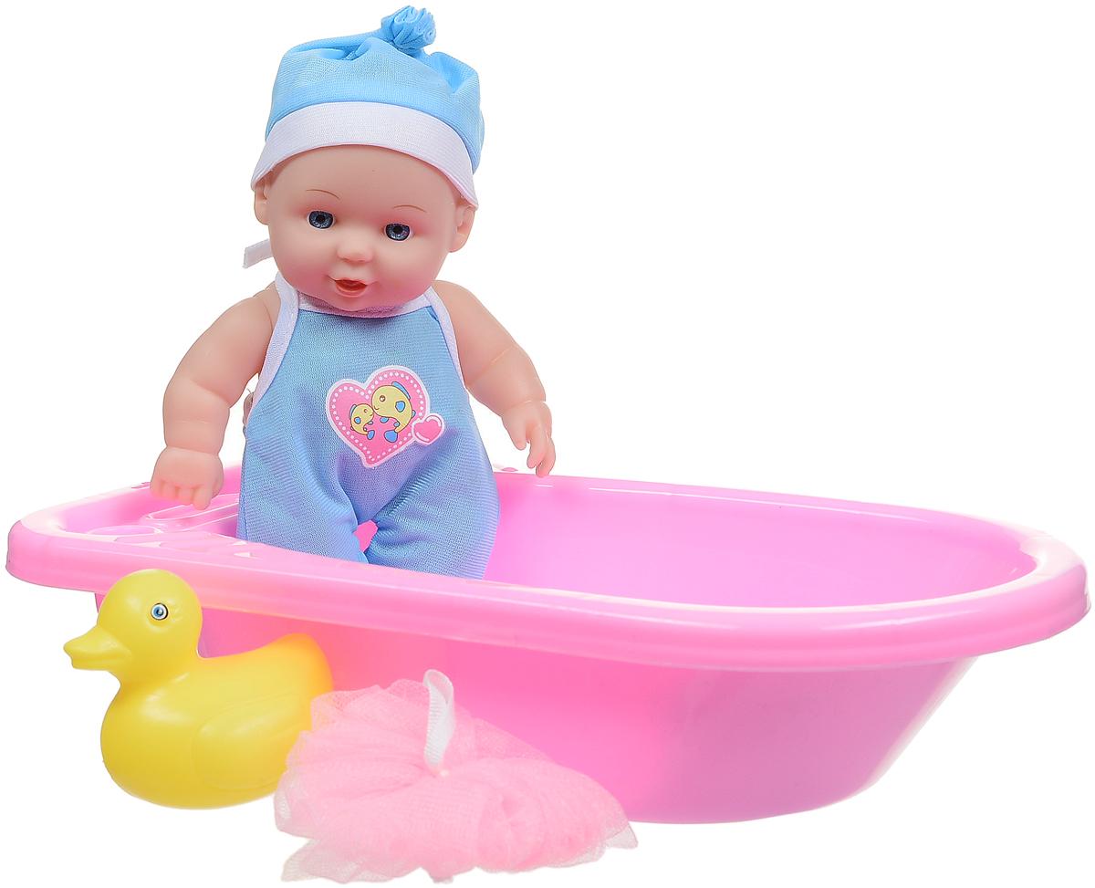 Фото Карапуз Пупс с ванночкой и аксессуарами цвет розовый голубой