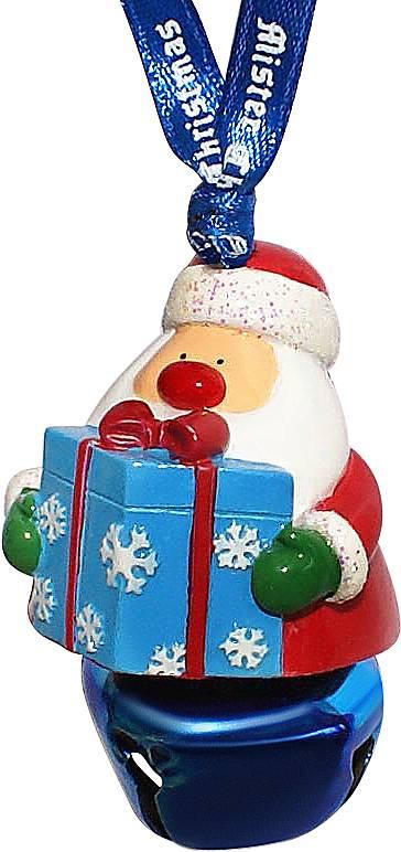 Украшение подвесное Mister Christmas Дед Мороз с подаркомGH-DM-B2