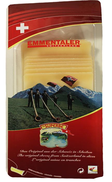 Le Superb Сыр Эмменталлер нарезка, 150 г сыр gruntaler с пажитником нарезка