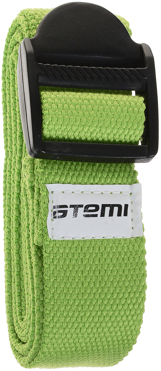 Ремешок для йоги Atemi, цвет: зеленый, 180 х 3,5 см сумка для комплекта йоги atemi ays 02