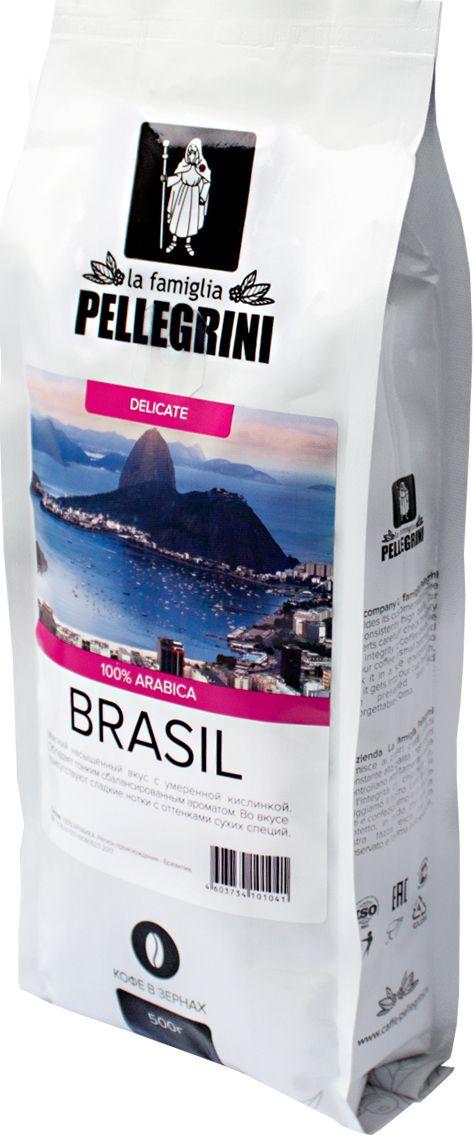 La Famiglia Pellegrini Brasil кофе в зернах, 500 г4603734101041Зерновой кофе La famiglia Pellegrini BRAZIL SANTOS screen 19 – это арабика класса Specialty. Имеет мягкий насыщенный вкус практически без кислинки, с тонким сбалансированным ароматом. Во вкусе сладкие нотки с оттенками сухих специй. Идеально подойдет для ежедневного употребления. Степень обжарки средняя.