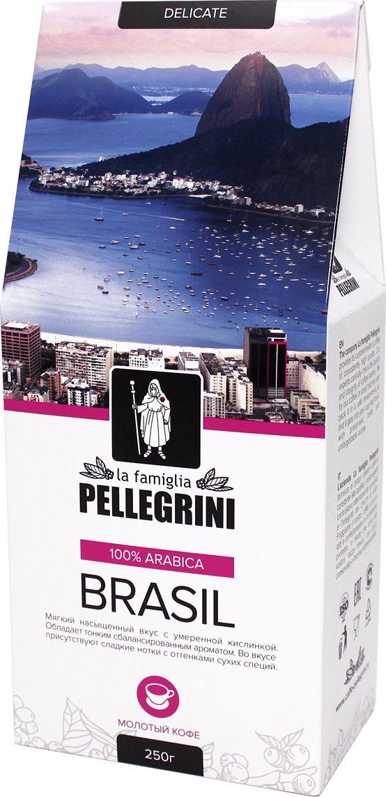 La Famiglia Pellegrini Brasil кофе молотый, 250 г casa rinaldi кофе молотый супер арабика натуральный 250 г