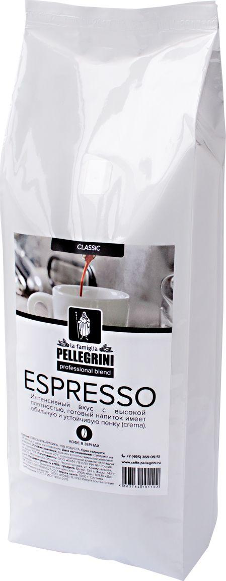 La Famiglia Pellegrini Espresso Professional Blend кофе в зернах, 1 кг4603734101102Натуральный зерновой кофе La Famiglia Pellegrini ESPRESSOprofessionalblend в упаковке 1 кг– это смесь отборных кофейных зерен, состоящая из 90% арабики и 10% робусты. Создавая эту смесь,мы стремились добиться ровного вкуса, не слишком крепкого,но и не слишком мягкого, подходящего для ежедневного употребления. Вкус интенсивный с высокой плотность, готовый напиток имеет устойчивую crema. Уникальное сочетание средне обжаренной арабики и робусты венской обжарки. Отличный выбор для кофеен, кафе и ресторанов.Кофе: мифы и факты. Статья OZON Гид