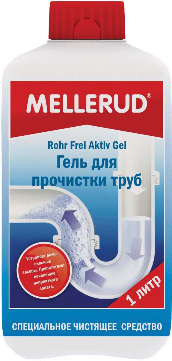 Гель для прочистки труб Mellerud, 1 л321Устраняет засоры, растворяет отложения в трубах - остатки пищевых продуктов, мыла, жир, волосы, вата и т.д. Прочищает трубы в ванной, умывальнике, душевых поддонах, унитазах и стоках. Можно применять как для пластмассовых, так и для металлических труб, т.к. в процессе очистки не происходит нагрева. Регулярное применение предотвращает появление неприятных запахов.Применение. При засорении труб и канализации перекрыть воду. В сточное отверстие налить около 250 мл (1/4 часть) геля. Оставить на полчаса. Затем основательно промыть теплой водой. В случае очень сильных засоров увеличить дозировку и оставить средство на всю ночь. Для предотвращения появления запахов каждую неделю добавлять в стоки 50 мл геля и оставлять на время.Внимание. Избегать попадания брызг на чувствительную поверхность - из алюминия, пластмассы, дерева, лакированного дерева. При попадании брызг сразу вытереть поверхность.