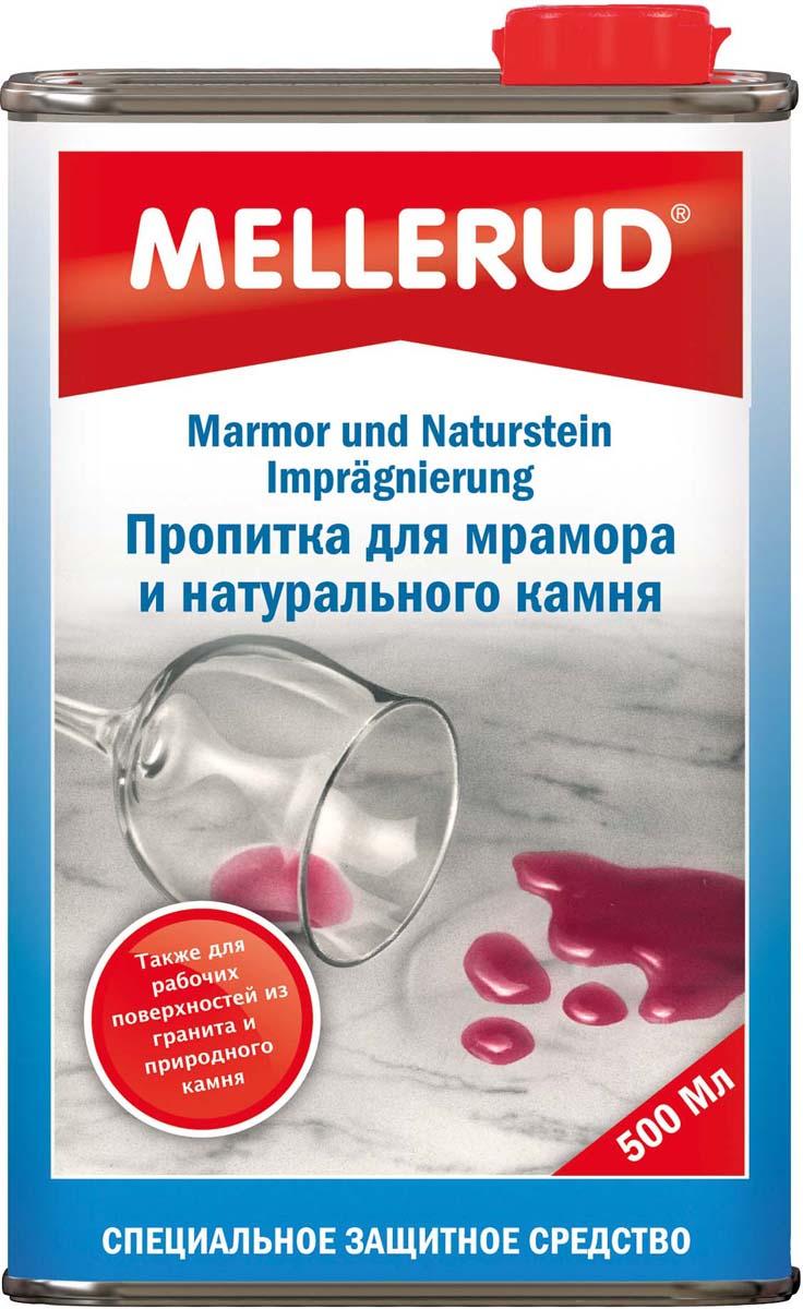 Пропитка для мрамора и натурального камня Mellerud, 500 мл341Защищает от проникновения масляных, жирных и водянистых загрязнений. Легко удаляет известковые отложения. Специальная пропитка для всех впитывающих оснований: мрамор, природный и искусственный камень, гранит, клинкер, асбест и песчаник, пористых керамических плит как котто, терракота и глины. Для внутреннего и наружного применения. Для пола, стен, столов, подоконников, кухни и ванной. Отлично подходит как защита против граффити. Особенно подходит для кухонных рабочих поверхностей и раковин из природного и искусственного камня.Применение. Равномерно распределить кисточкой или валиком по чистому и сухому основанию. Оставить впитываться. Количество нанесенной пропитки должно соответствовать впитывающей способности материала. При сильно впитывающих основаниях процесс повторить. Излишки материала удалить в течение 30 минут. Начинает действовать в течение 24 часов.Расход. 500 мл на 10 кв.м.Внимание. Из-за возможного изменения цвета проверить на незаметном участке. Во время высыхания не наступать.