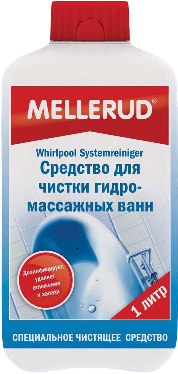 Средство для чистки гидромассажных ванн Mellerud, 1 л345Удаляет микробы, грибки, бактерии и другие микроорганизмы в ванных, трубопроводной системе гидромассажной ванны. Чистит основательно и предотвращает появление зеленого налета. Дезинфицирует. При регулярном применении препятствует образованию известковых, мыльных и жировых отложений в трубопроводной системе и борется с образованием опасных микробов. Предотвращает появление неприятных запахов.Применение. После каждого принятия ванны добавлять 100 мл в использованную воду. Уровень воды должен полностью закрывать форсунки и слив. Оставить примерно на 30 минут, при этом несколько раз включить циркуляционный насос на 1-2 минуты. Затем спустить воду и включить насос для смывания остатков. Для ванн с интегрированной системой дезинфекции средство добавляется в неразбавленном виде в специально предусмотренное дозировочное устройство.Внимание. Всегда следовать указаниям производителя. Если ванной не пользовались долгое время, для антисептики необходимо наполнить ванну водой, добавить 200 мл средства и выполнить все процедуры, указанные выше.