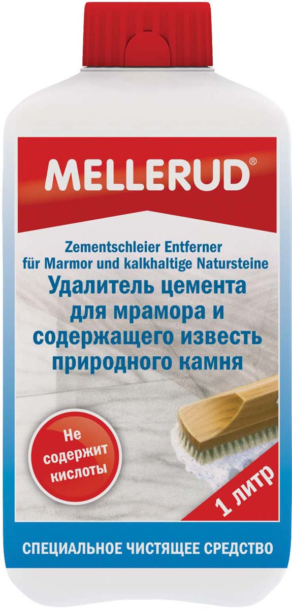 Удалитель цемента Mellerud, для мрамора и содержащего известь природного камня, 1 л