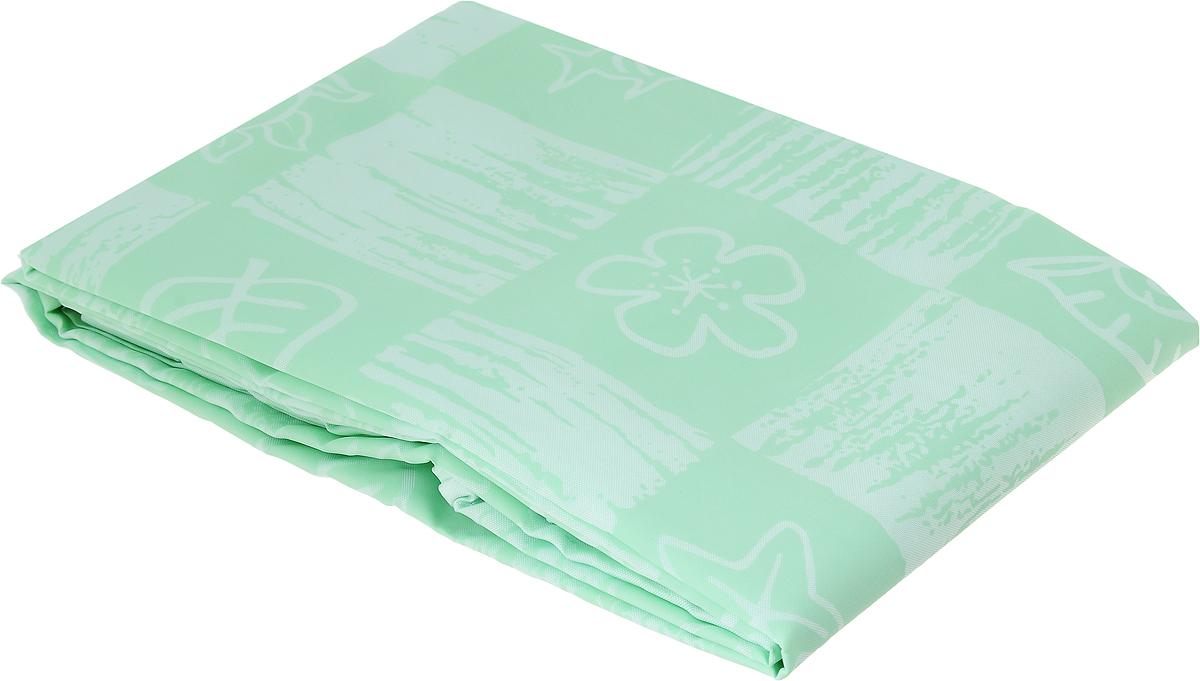 Занавеска для ванной Verran, тканевая, цвет: мятный, 180 x 180 см630-59Занавеска для ванной Verran выполнена из плотного полиэстера. Благодаря свойству водонепроницаемости и превосходному дизайну, данный аксессуар прекрасно впишется в любой интерьер ванной комнаты и станет надежной защитой от намокания посторонних предметов. Занавеска имеет 12 металлических хромированных люверсов. Кольца приобретаются отдельно. В нижний край занавески вшита специальная утяжеляющая полоска.