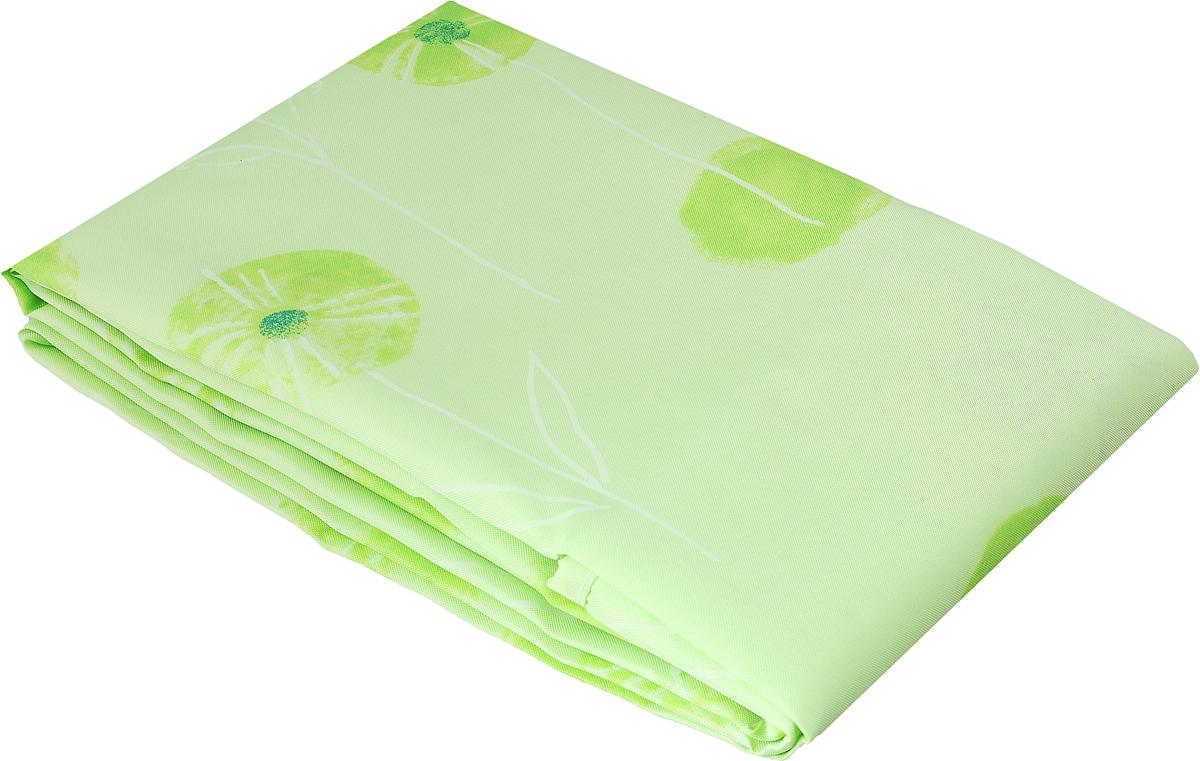 Занавеска для ванной Verran, тканевая, цвет: салатовый, зеленый, 180 х 180 см verran полотенце для ванной 70х140 см beigeverran lace