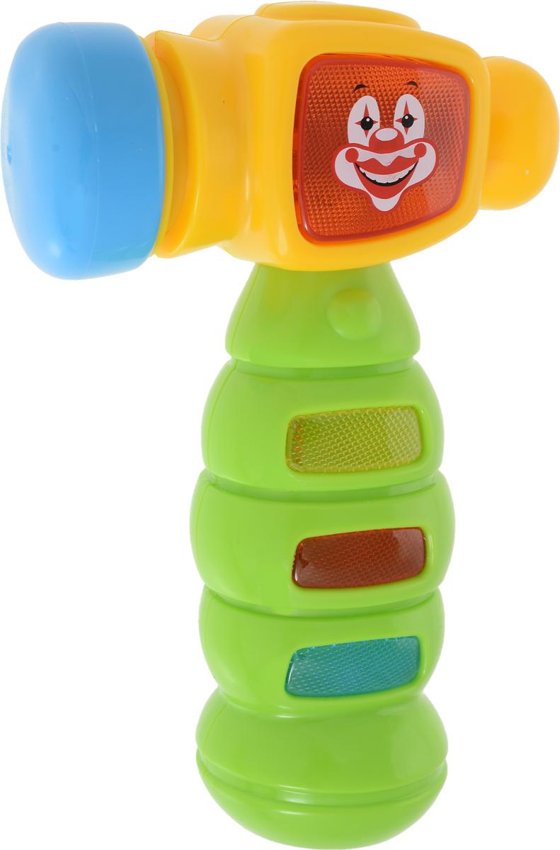 Bondibon Музыкальная игрушка Молоток цвет желтый зеленый