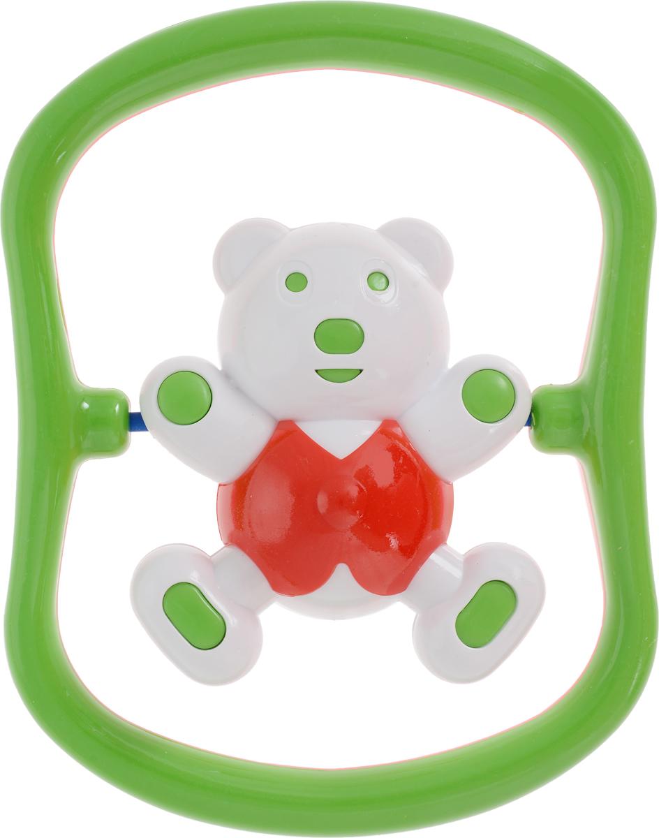 Аэлита Погремушка Мишка-баюн цвет зеленый белый красный