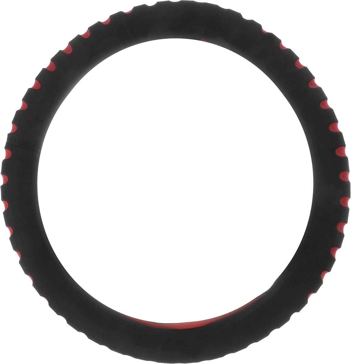 Чехол на руль Alca Люкс, перфорированный, цвет: черный, красный, диаметр 37-39 см596000_черный, красныйЧехол на руль Alca Люкс, имея стандартный размер, подходит для большинства иностранных автомобилей и отечественных моделей. Чехол легко устанавливается на рулевое колесо автомобиля, защищает его от потертостей и загрязнений. Чехол на руль Alca Люкс позволит сделать интерьер автомобиля более выразительным и комфортным.