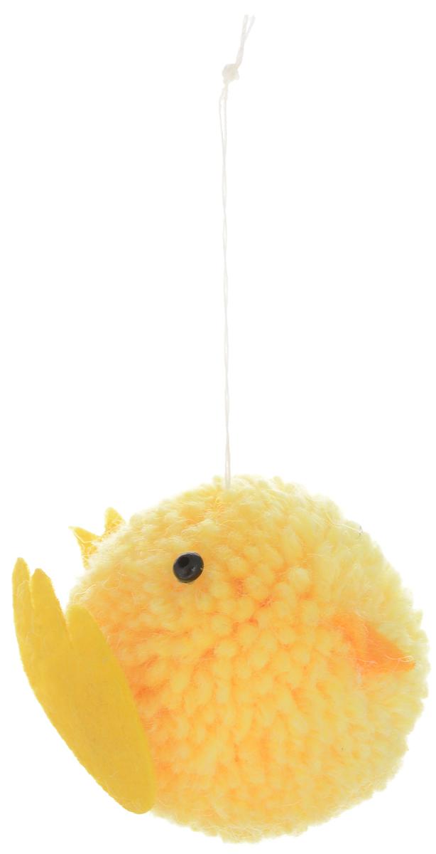 Декоративное подвесное украшение Home Queen Птенчик, цвет: желтый мочалка из нейлона home queen цвет желтый 57199