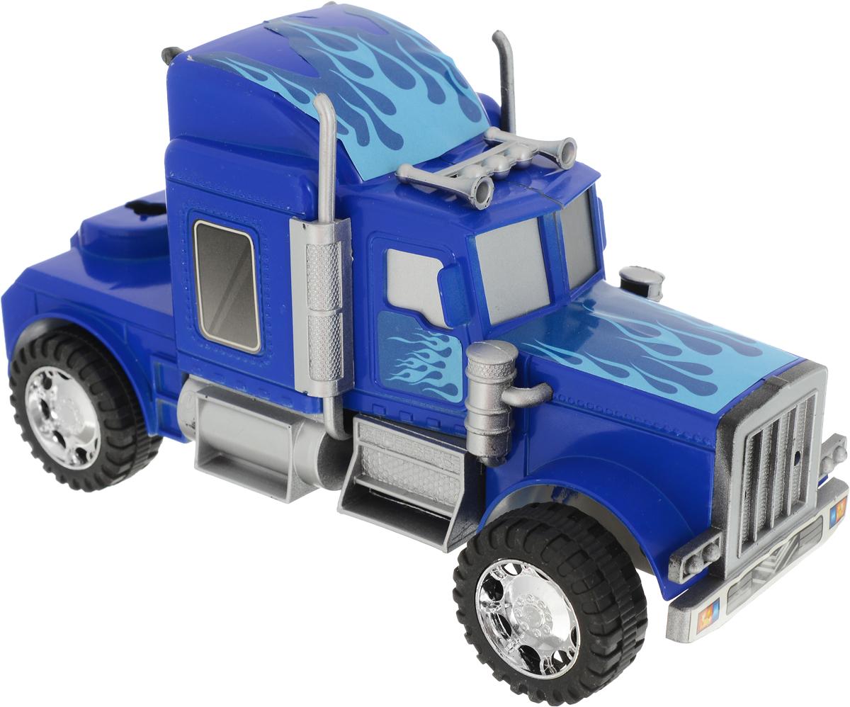 Junfa Toys Тягач инерционный цвет синий 565-3 junfa toys автовоз инерционный с погрузчиком excellent transport car