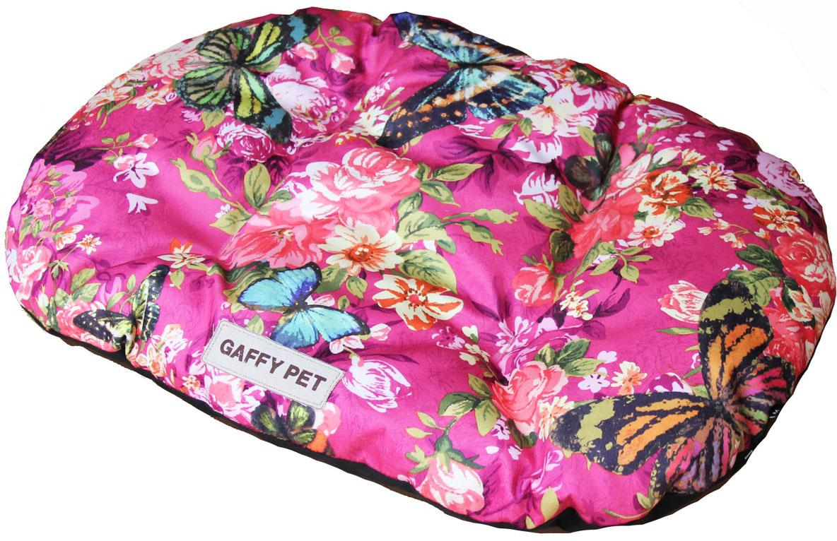 Подушка для животных Gaffy Pet Butterfly, цвет: розовый, 75 х 55 см лежаки для животных happy house подушка pure dutch pet design коричневый m 110 75 15 см для домашних животных