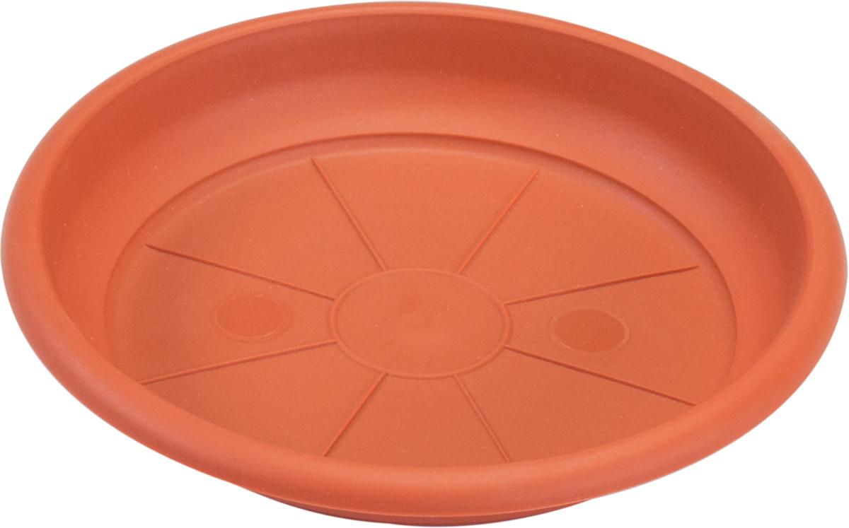 Поддон Santino Терра, цвет: терракотовый, диаметр 15,5 смПТ 2,3 ТЕРПоддон Santino Терра изготовлен из высококачественного пластика, не содержащего вредных примесей, устойчивых к воздействию ультрафиолета. Удерживает влагу дольше, чем глиняные изделия.