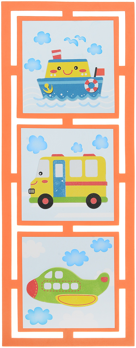Room Decor Наклейка интерьерная Кораблик Автобус Самолет1123229_оранжевый, голубойИнтерьерная наклейка Room Decor Кораблик. Автобус. Самолет - это наклейка на все случаи жизни! Наклейка представляет собой три картины с изображениями транспорта.Украшение мебели, сокрытие царапины на стене или даже декор для скрапбукинга - наклейка станет идеальным вариантом для всего этого. Не стоит искать дорогостоящие наборы для творчества, инструменты, чтобы убрать скол или шероховатость с поверхности любимого шкафа или стола, когда под рукой имеется подобное изделие. Ведь всего пара движений, и ваша задумка уже перед вами! Не ограничивайте свою фантазию! Применение подобных наклеек не вызовет сложностей: быстро крепятся и убираются, при этом не оставляют следов. Привнесите оригинальные нотки в ваш интерьер, придайте яркую индивидуальность каждой частичке вашего окружения!