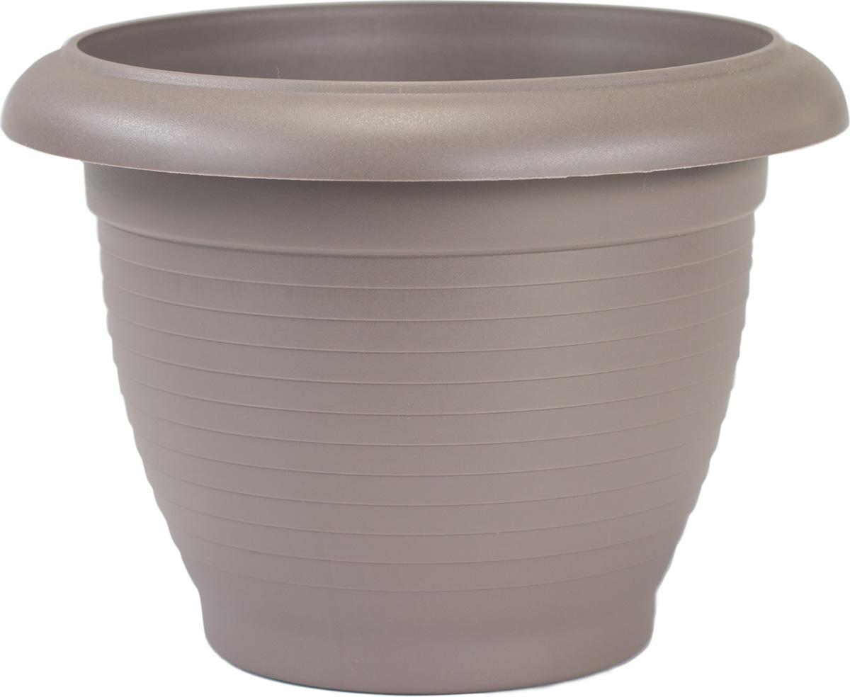 Горшок цветочный Santino Терра, цвет: шаде, 4 лГТ 4 ШАДЦветочный горшок изготовлен из высококачественного пластика, не содержащего вредных примесей. Он устойчив к воздействию ультрафиолета. Удерживает влагу дольше, чем глиняные изделия.