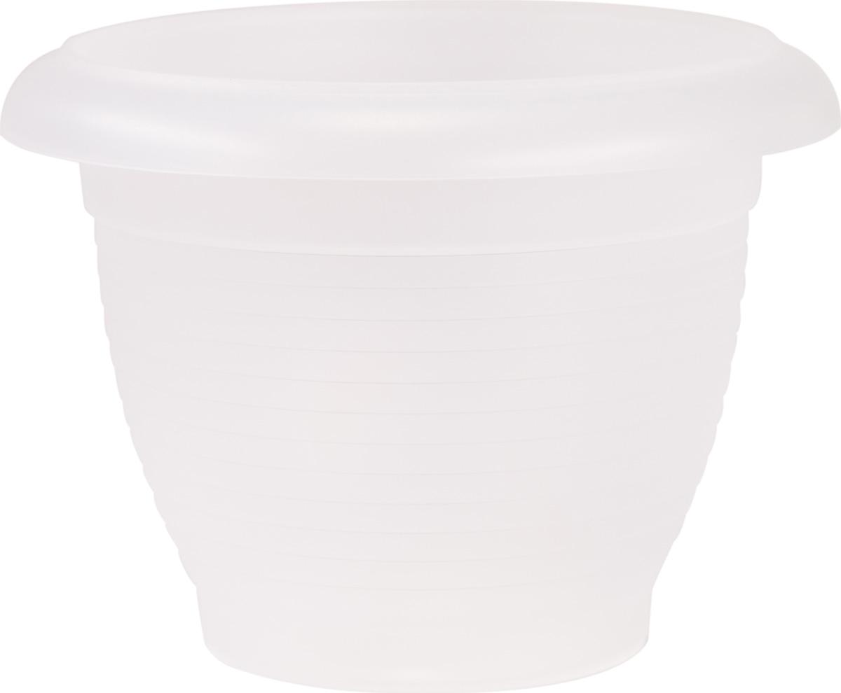 Горшок цветочный Santino Терра, цвет: прозрачный, 1 лГТ 1 ПРЦветочный горшок изготовлен из высококачественного пластика, не содержащего вредных примесей. Он устойчив к воздействию ультрафиолета. Удерживает влагу дольше, чем глиняные изделия.