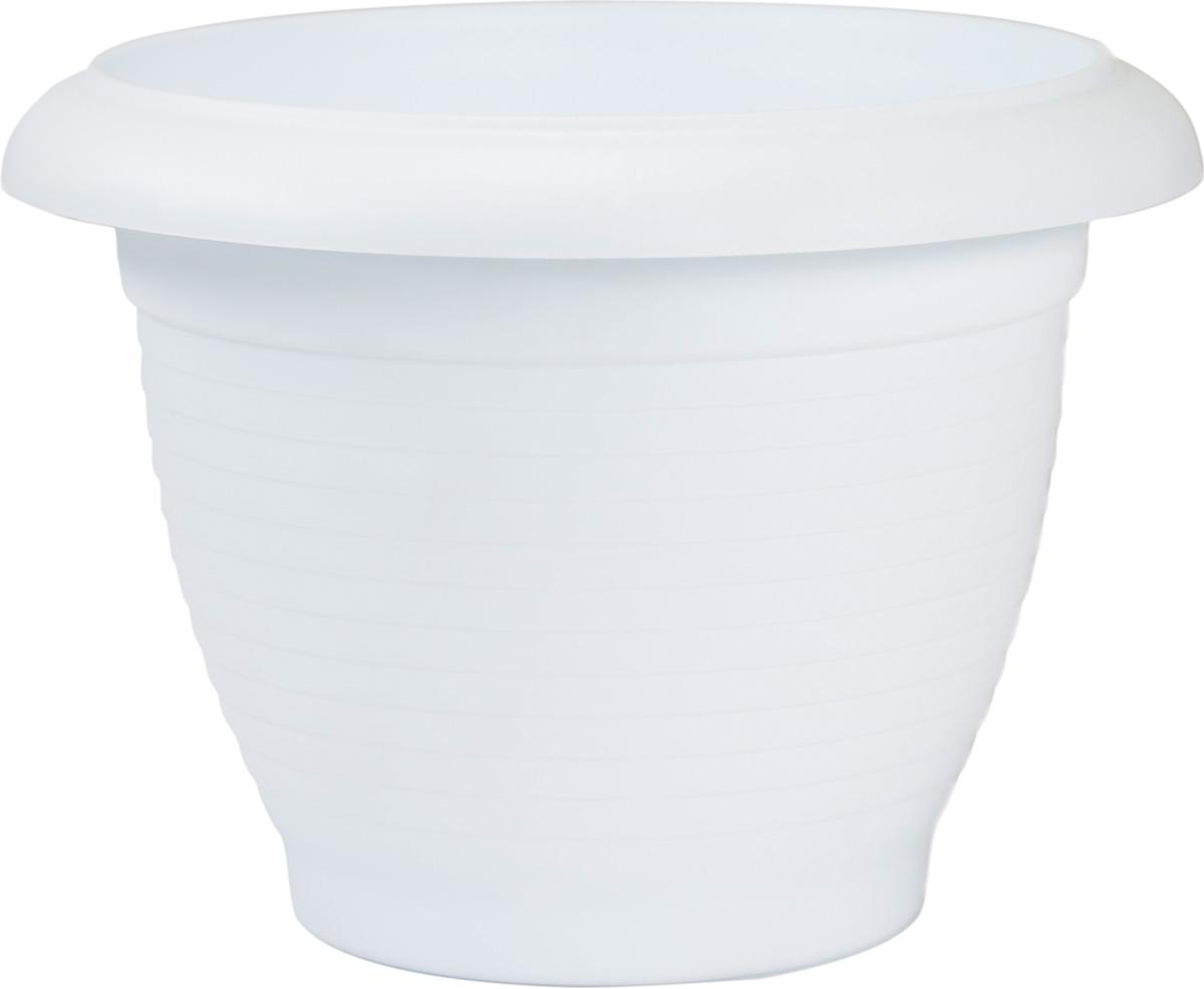 Горшок цветочный Santino Терра, цвет: белый, 4 лBH-16-1Цветочный горшок изготовлен из высококачественного пластика, не содержащего вредных примесей. Он устойчив к воздействию ультрафиолета. Удерживает влагу дольше, чем глиняные изделия.