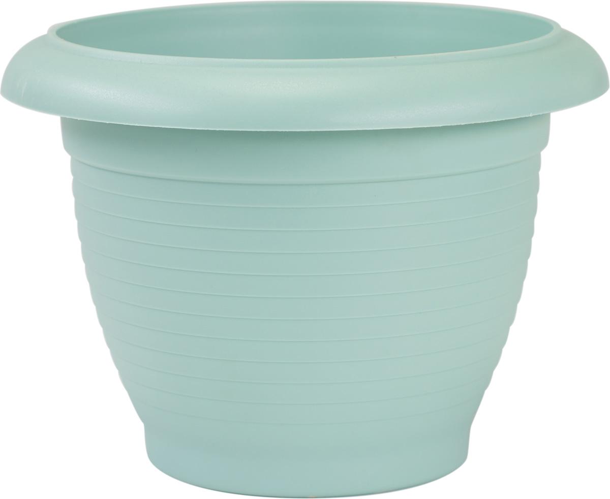 Горшок цветочный Santino Терра, цвет: нефритовый, 4 лFF/BN-MЦветочный горшок изготовлен из высококачественного пластика, не содержащего вредных примесей. Он устойчив к воздействию ультрафиолета. Удерживает влагу дольше, чем глиняные изделия.