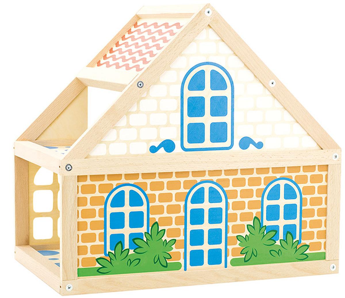 Игрушки из дерева Кукольный дом кукольный домик из картона четыре комнаты картонный папа