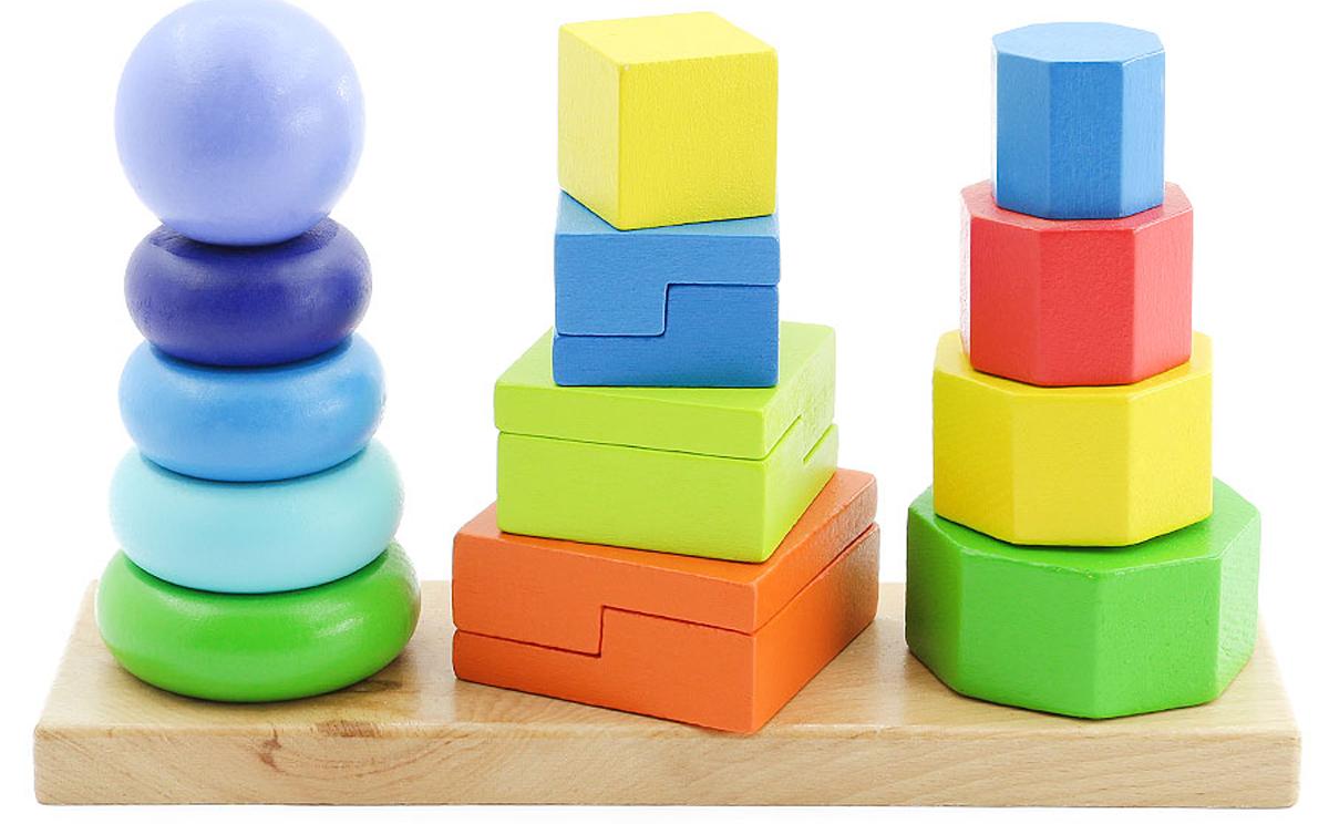 Игрушки из дерева Пирамидки 3 в 1 - Игрушки для малышей