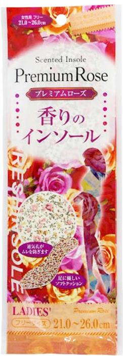 Fudo Kagaku Женские дышащие стельки с ароматом розы 21-26 см015789Мягкие стельки обеспечат Вам комфорт при ходьбе. Стельки создают приятный аромат розы внутри обуви. Мягкий материал стелек помогает снять напряжение с ног, что уменьшает усталость. Благодаря вентиляционным отверстиям, обеспечивается постоянная циркуляция воздуха, что способствует снижению потливости ног. Подходят для ежедневной эксплуатации и обуви любого типа.