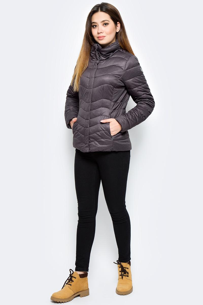 Куртка женская Luhta, цвет: темно-коричневый. 838463340LV_195. Размер 38 (46) куртка женская luhta цвет темно синий 838411535lv 390 размер 42 50