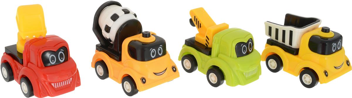 Дрофа-Медиа Набор инерционных машинок 4 шт вид 2 набор инерционных игрушек танки 6385 4