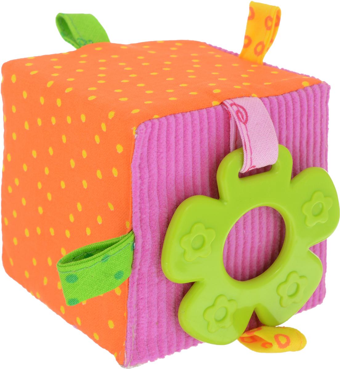 Мякиши Развивающая игрушка ЭкоМякиши Кубик цвет розовый оранжевый развивающая игрушка мякиши мой зайчик цвет серый белый розовый