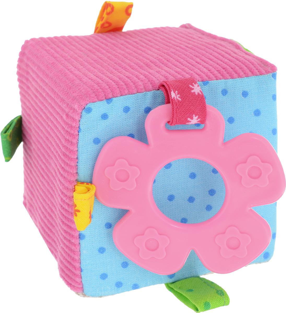 Мякиши Развивающая игрушка ЭкоМякиши Кубик цвет розовый голубой развивающая игрушка мякиши мой зайчик цвет серый белый розовый
