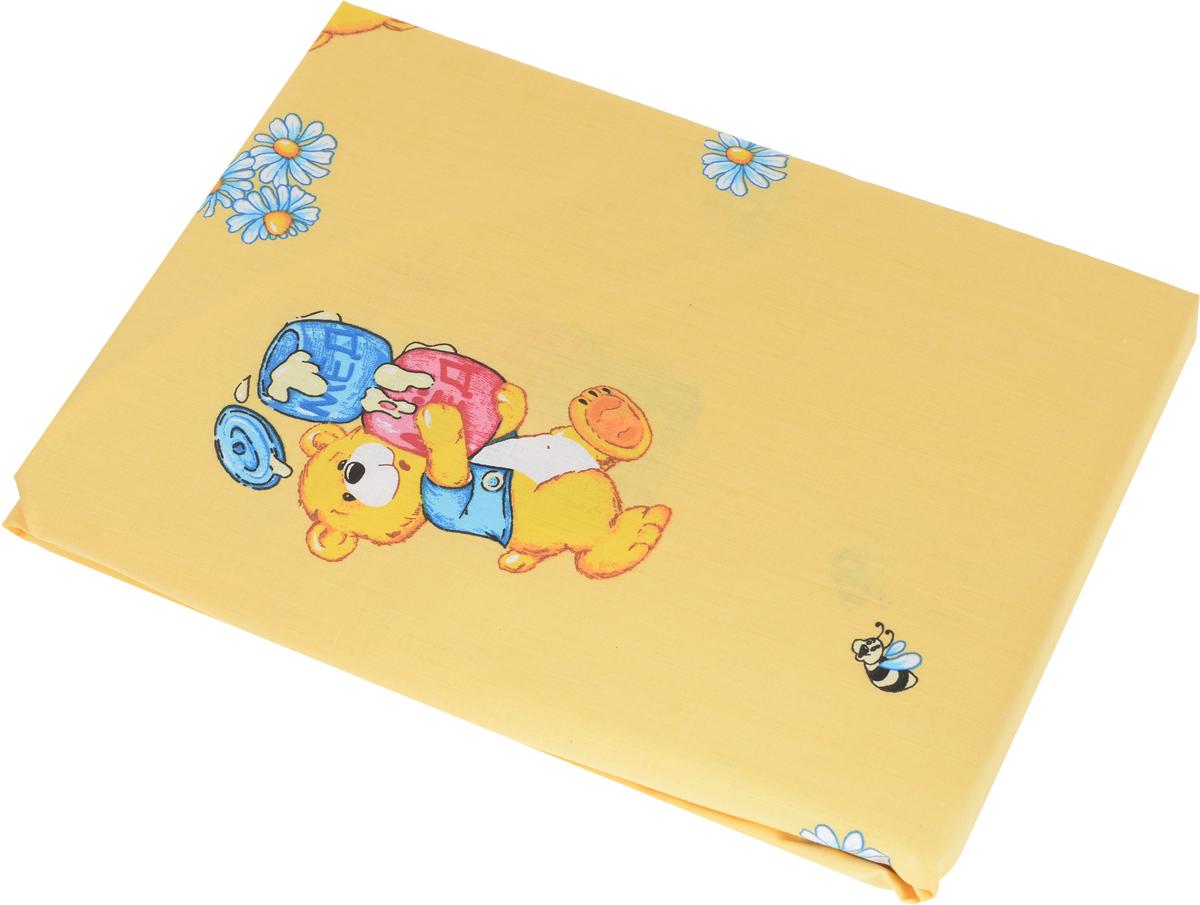 Primavelle Простыня на резинке детская Мишка с медом цвет желтый 60 х 120 см114612110-10_мишка с медомДетская простыня на резинке Primavelle идеально подойдет для кроватки вашего малыша и обеспечит ему здоровый сон. Она изготовлена из натурального 100% хлопка, дарящего малышу непревзойденную мягкость. Простыня с помощью специальной резинки растягивается на матрасе. Она не сомнется и не скомкается, как бы не вертелся ребенок.Подарите вашему малышу комфорт и удобство!
