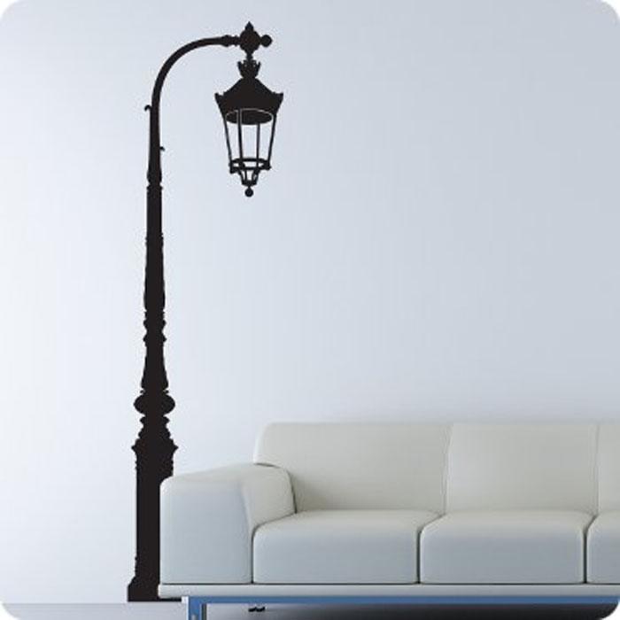 Стикер Paristic Фонарь в сквере, цвет: черный, 182 х 49 см