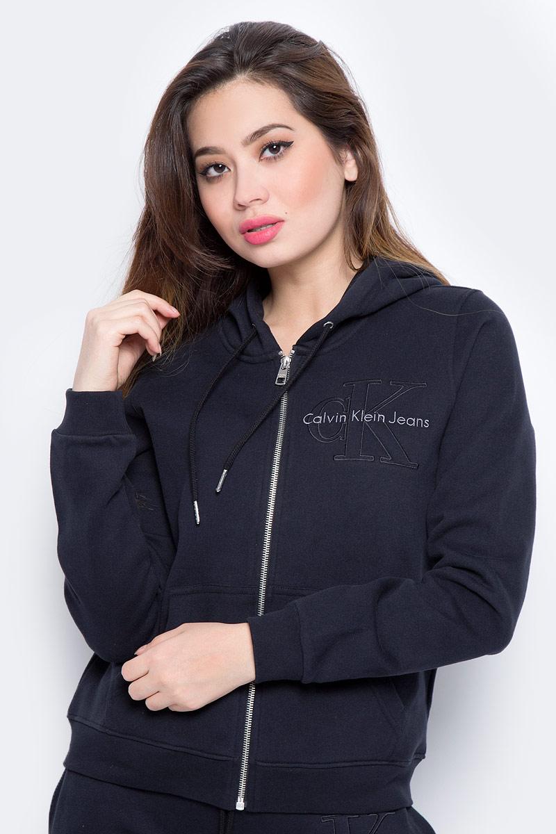Толстовка женская Calvin Klein Jeans, цвет: черный. J20J206570_0990. Размер M (44/46) платье calvin klein jeans цвет черный j20j201326 0990 размер m 44 46