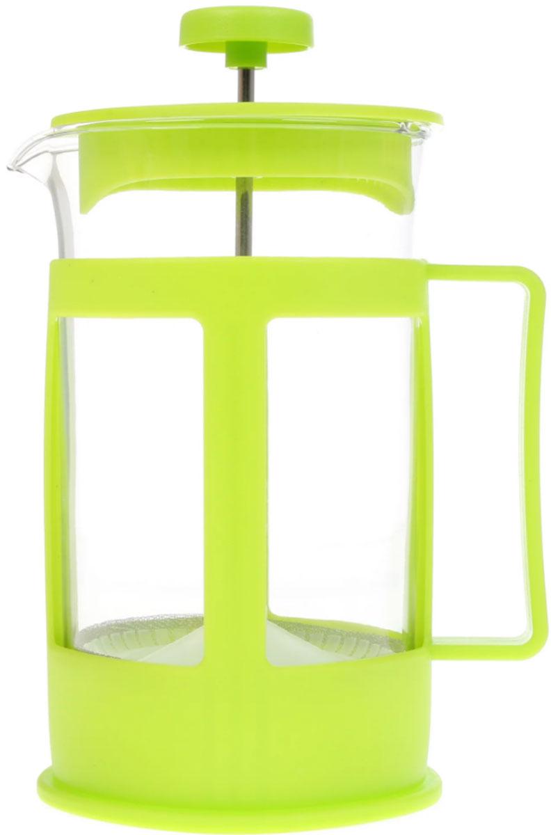 Френч-пресс IRIT, цвет: зеленый, 600 мл. FR-06-014FR-06-014 зелёныйФренч-пресс IRIT используется для заваривания крупнолистового чая, кофе среднего помола, травяных сборов. Корпус выполнен из боросиликатного стекла, ручка, оправа и крышка из пластика. Изделие оснащено фильтром из высококачественной нержавеющей стали.Френч-пресс IRIT незаменим для любителей чая и кофе. Можно мыть в посудомоечной машине. Объем: 600 мл.